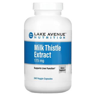 Lake Avenue Nutrition, 밀크시슬 추출물, 175mg, 베지 캡슐 240정