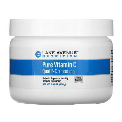 Купить Lake Avenue Nutrition Quali-C, чистый витаминС в порошке, 1000мг, 250г (8, 81унции)