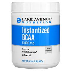 Lake Avenue Nutrition, 速溶支鏈氨基酸粉,原味,32 盎司(907 克)