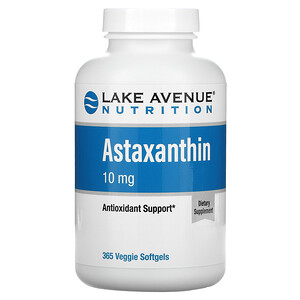 Lake Avenue Nutrition, 蝦青素,10 毫克,365 粒素食軟凝膠
