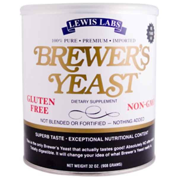 Lewis Labs International, Brewer's Yeast, 32 oz (908 g) (Discontinued Item)