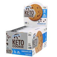 Keto Cookies, печенье для кетодиеты, с кусочками шоколада, 12шт. по 45г (1,6унции) - фото