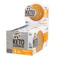 Keto Cookies, печенье для кетодиеты, со вкусом арахисовой пасты, 12шт. по 45г (1,6унции) - фото