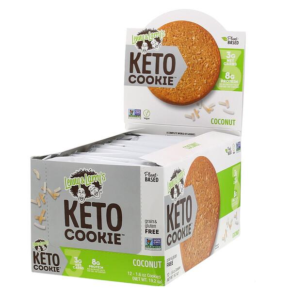 KetoCookies, Galletas de coco, 12galletas, 45g (1,6oz) cada una