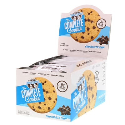 Lenny & Larry's The COMPLETE Cookie, Chocolate Chip, 12 Cookies, 2 oz (57 g) Each