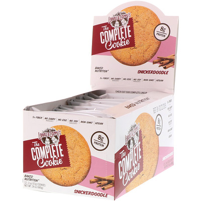 Lenny & Larry's The COMPLETE Cookie, Snickerdoodle, 12 Cookies, 2 oz (57 g) Each