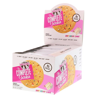 Lenny & Larry's The COMPLETE Cookie, Birthday Cake, 12 Cookies, 2 oz (57 g) Each