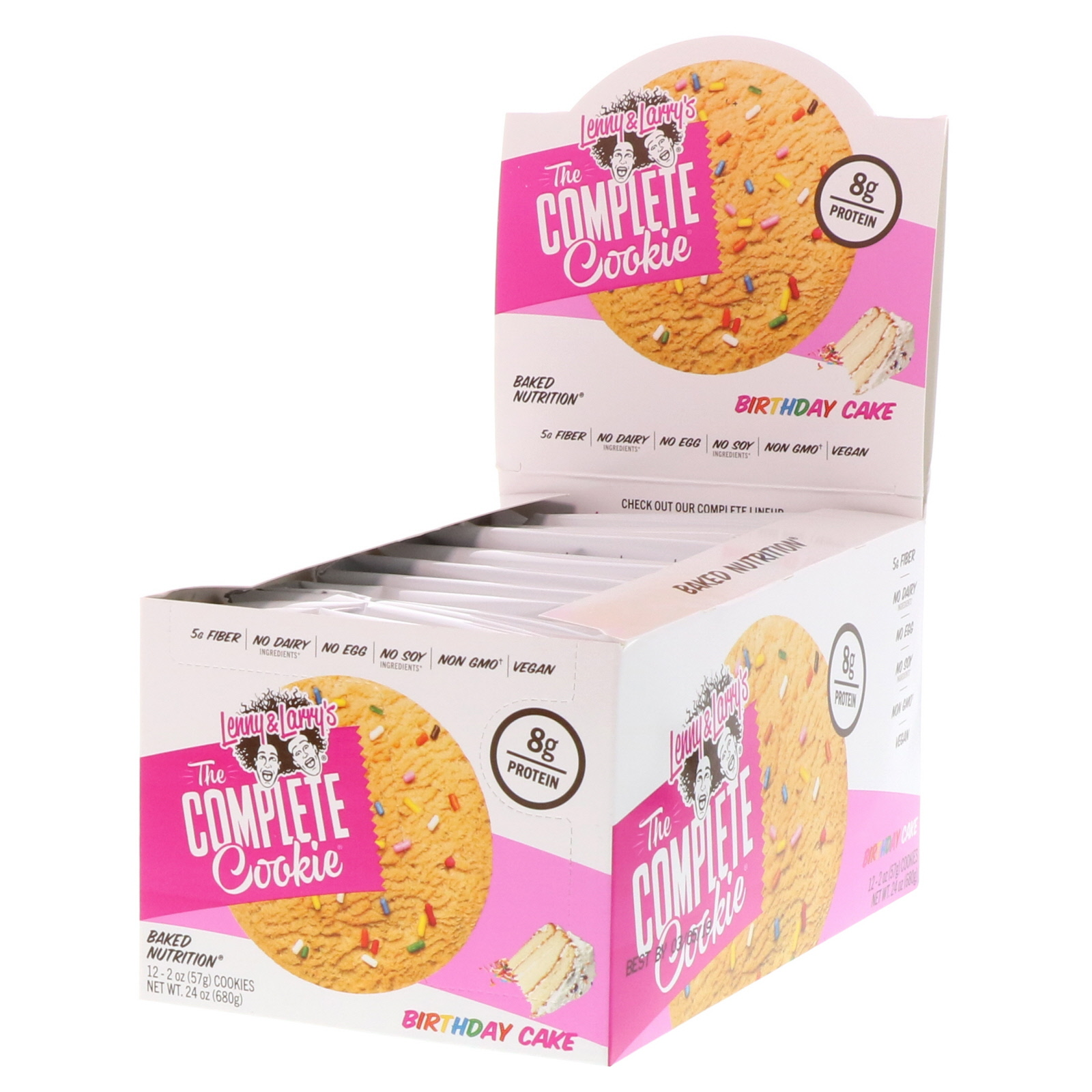 Lenny Larrys The Complete Cookie Birthday Cake 12 Cookies 2 Oz 57 G Each