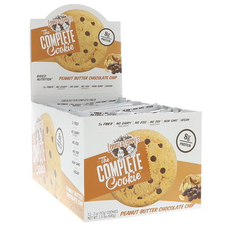 Lenny & Larry's, The Complete Cookie, Peanut Butter Chocolate Chip, 12 Cookies, 2 oz (57 g) Each