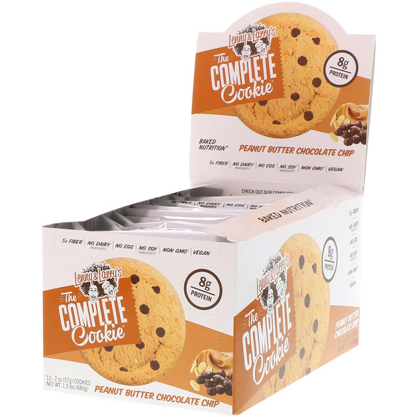 Lenny & Larry's, The Complete Cookie, Peanut Butter Chocolate Chip, 12 Cookies, 2 oz (57 g) Each (Discontinued Item)