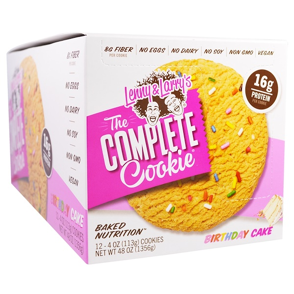 Lenny & Larry's, The Complete Cookie, Birthday Cookie, 12 Cookies, 4 oz (113 g) Each (Discontinued Item)