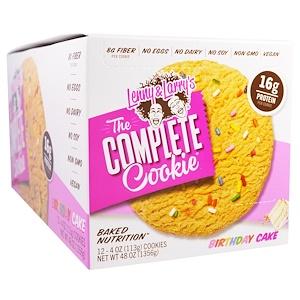 Ленни энд Лэррис, The Complete Cookie, Birthday Cookie, 12 Cookies, 4 oz (113 g) Each отзывы