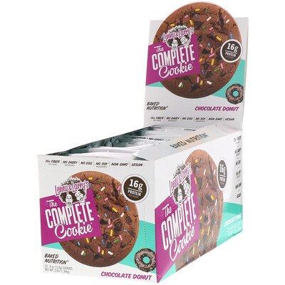 Lenny & Larry's The COMPLETE Cookie, Chocolate Donut, 12 Cookies, 4 oz (113 g) Each