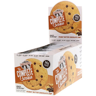Lenny & Larry's, The Complete Cookie, Peanut Butter Chocolate Chip, 12 Cookies, 4 oz (113 g) Each