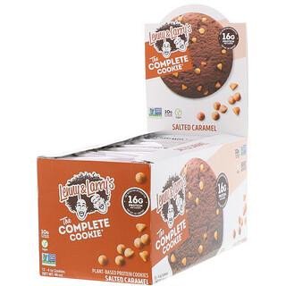 Lenny & Larry's, The Complete Cookie، بالكراميل المملح، 12 قطعة بسكويت، 4 أونصة (113 جم) لكل قطعة