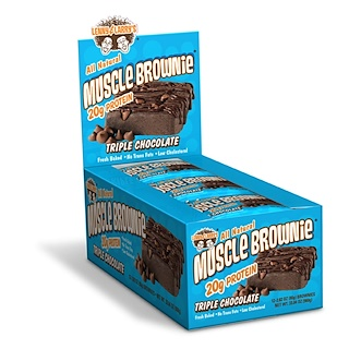 Lenny & Larry's, Muscle Brownie, Triple Chocolate, 12 Brownies, 2.29 oz (65 g) Each