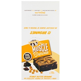 Lenny & Larry's, Muscle Brownie, Peanut Butter Brownie, 12 Brownies, 2.29 oz (65 g) Each