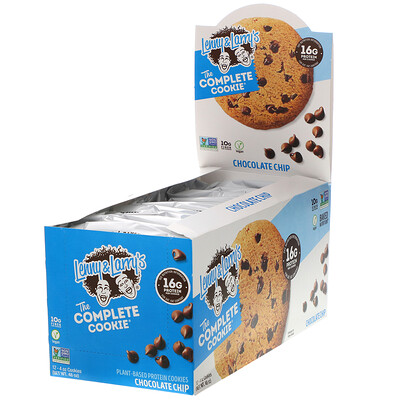 Lenny & Larry's The COMPLETE Cookie, Chocolate Chip, 12 Cookies, 4 oz (113 g) Each