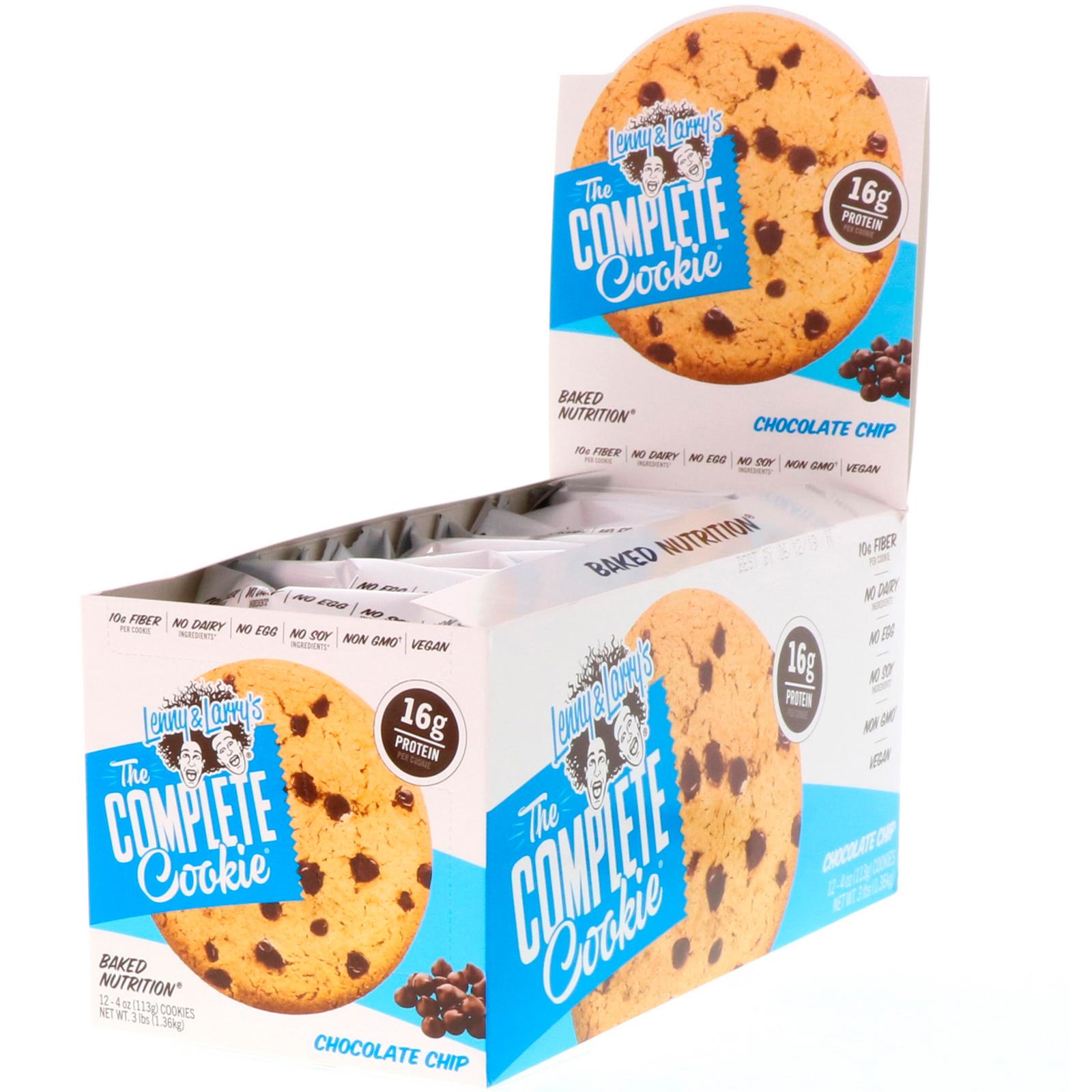 lenny larry s 完全なクッキー チョコレートチップ 12クッキー 各4