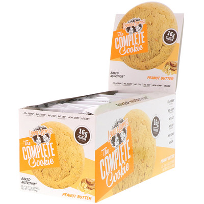 Lenny & Larry's The COMPLETE Cookie, Peanut Butter, 12 Cookies, 4 oz (113 g) Each