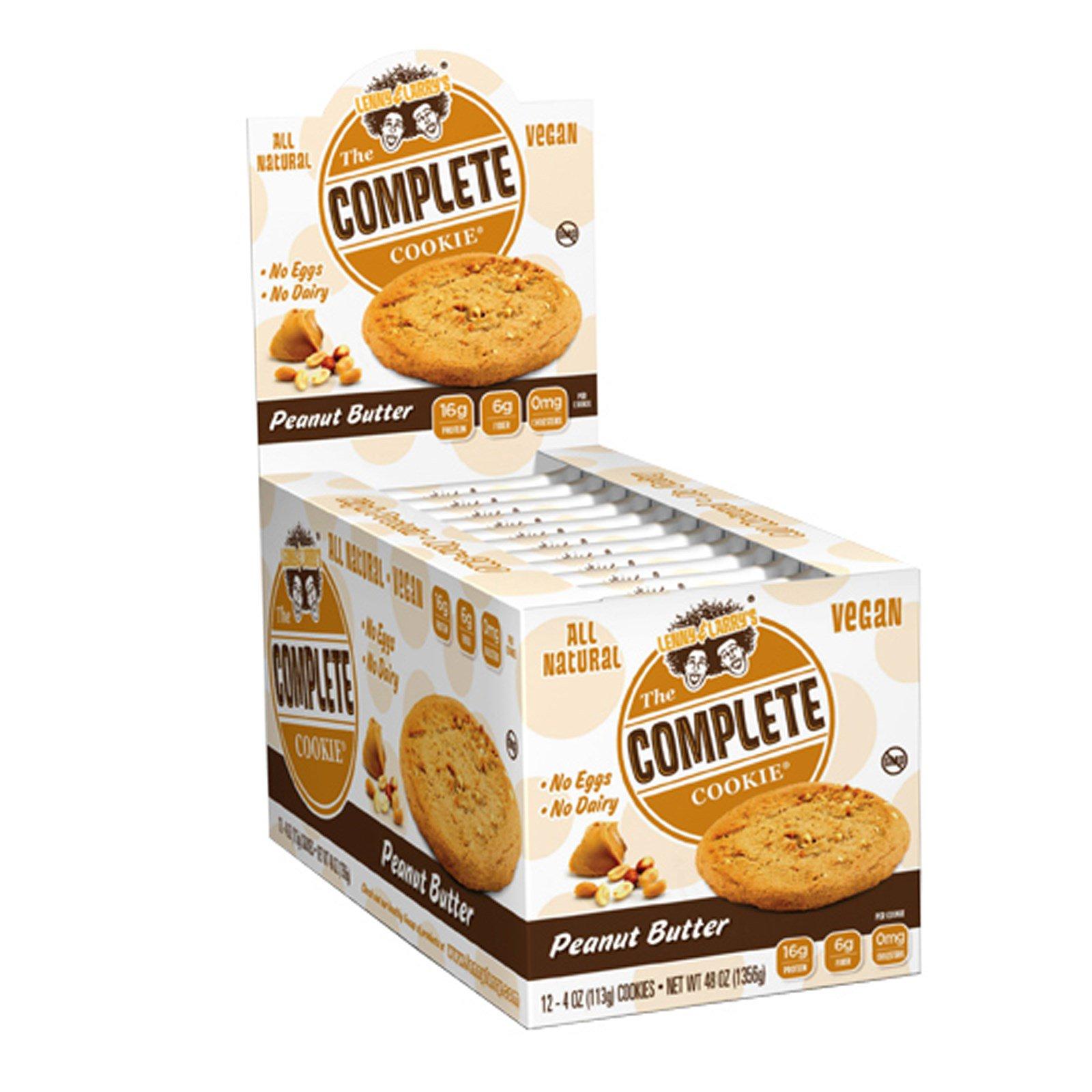 Lenny & Larry's, Complete Cookie, с арахисовым маслом, 12 печений, 4 унции (113 гр)