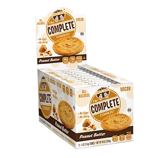 Lenny & Larry's, The Complete Cookie, Peanut Butter, 12 Cookies, 4 oz (113 g) Each