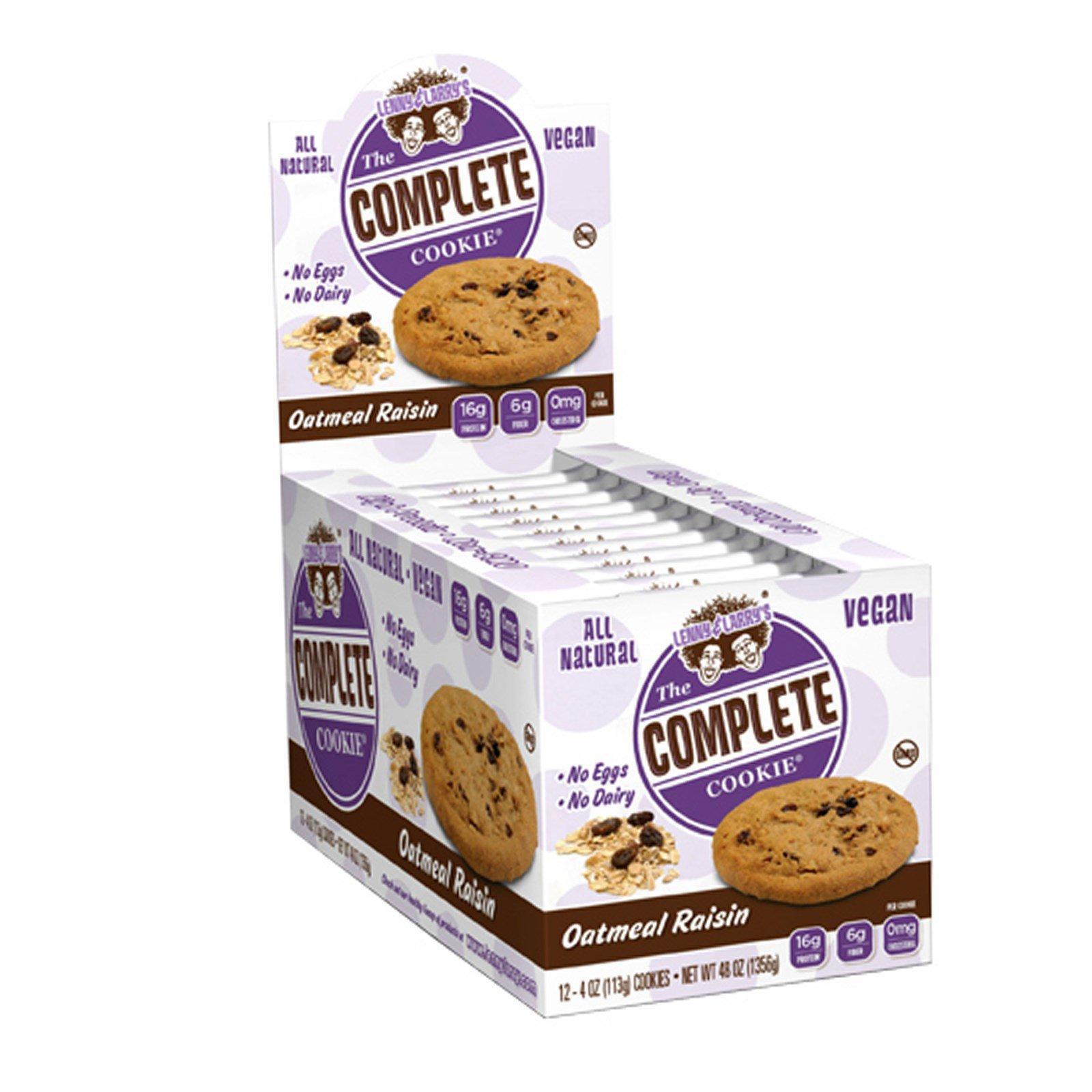 Lenny & Larry's, Complete Cookie, овсяные хлопья с изюмом, 12 печений, 4 унции (113 гр)