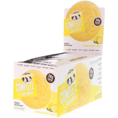 Купить Complete печенье, лимонное с маком, 12 шт, одно печенье - 4 унции (113 гр)