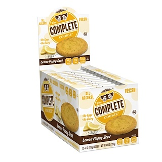 Lenny & Larry's, The Complete Cookie, Lemon Poppy Seed, 12 Cookies, 4 oz (113 g) Each