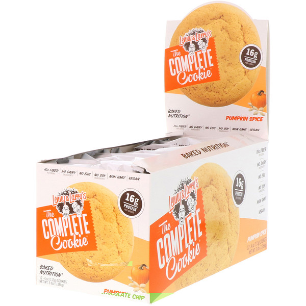 Lenny & Larry's, The Complete Cookie, Pumpkin Spice, 12 Cookies, 4 oz (113 g) Each