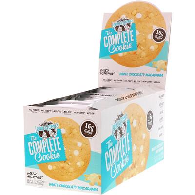 Купить Complete Cookie, белый шоколад с орехами макадамии, 12 печений, весом 113 г (4 унции) каждое
