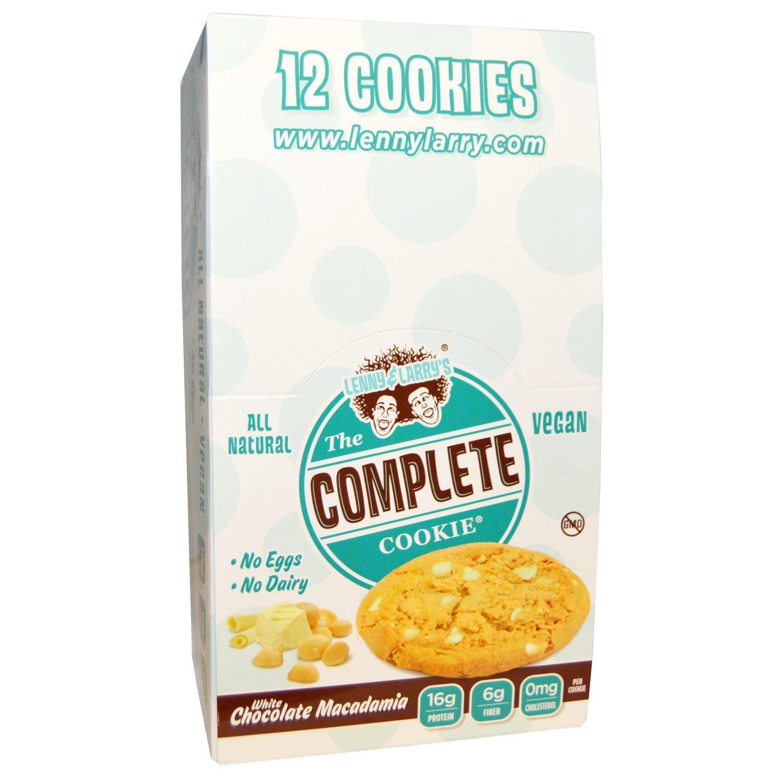 Lenny & Larry's, The Complete Cookie, белый шоколад и акадамия, 12 печений, 113 г (4 унции) каждое