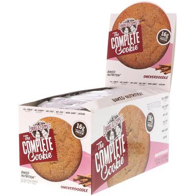 Полноценное печенье, Snickerdoodle, 12 шт., по 4 унции(113 г) каждое