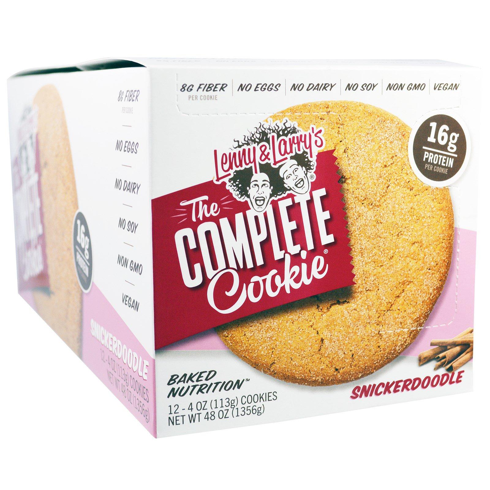 Lenny & Larry's, Полноценное печенье, Snickerdoodle, 12 шт., по 4 унции(113 г) каждое