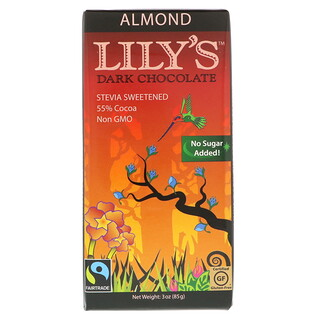 Lily's Sweets, Chocolate oscuro, almendra, 3 oz (85 g)
