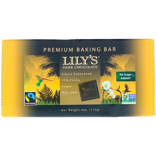 Lily's Sweets, Premium Baking Bar, Dark Chocolate, 4 oz (113 g)