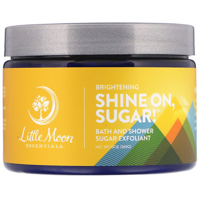 Купить Little Moon Essentials Brightening, Shine On, Sugar!, Bath and Shower Sugar Exfoliant, 13 oz (369 fl)