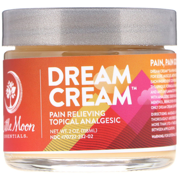 Little Moon Essentials, Dream Cream, Pain Relieving Topical Analgesic, 2 oz (118 ml)