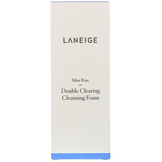 Laneige, Mini Pore, Double Clearing Cleansing Foam, 150 ml