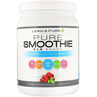 Lean & Pure, Pure Smoothie CLA Shake, Naturally Flavored, 16.9 oz (480 g)