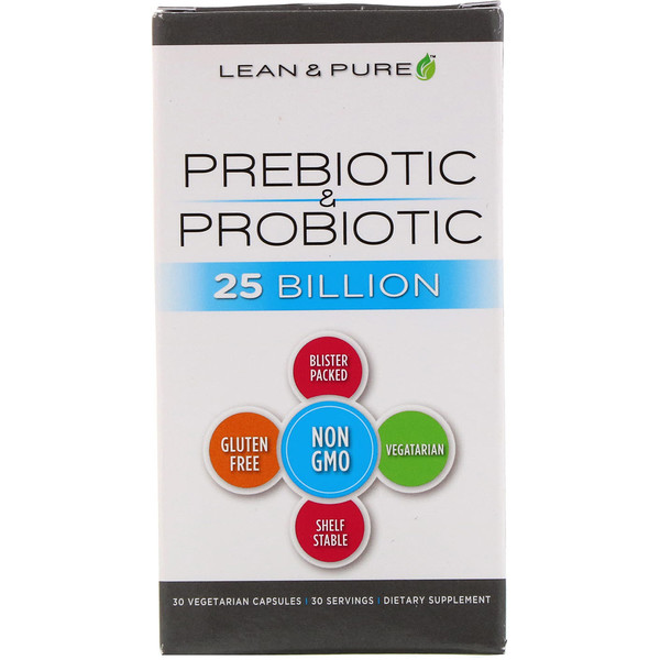 Lean & Pure, Prebiotic & Probiotic Complete, 25 Billion, 30 Vegetarian Capsules (Discontinued Item)