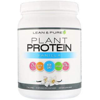 Lean & Pure, Plant Protein, Vanilla, 17.4 oz (534 g)