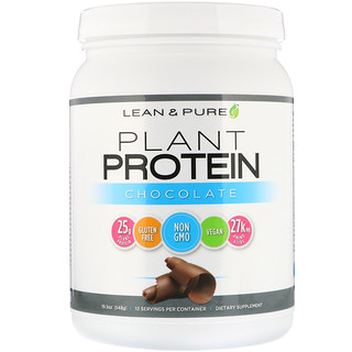 Lean & Pure, Plant Protein, Chocolate, 19.3 oz (548 g)