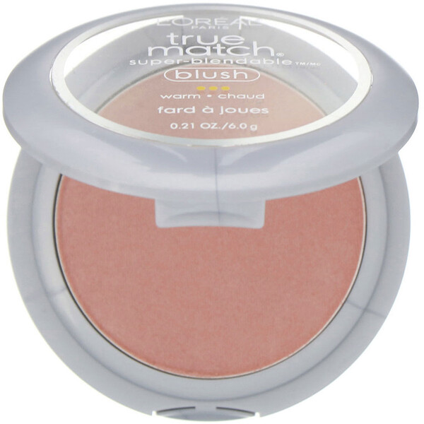 L'Oreal, Blush True Match Super-Blendable, Blush, 5-6D Subtle Sable, 6 g