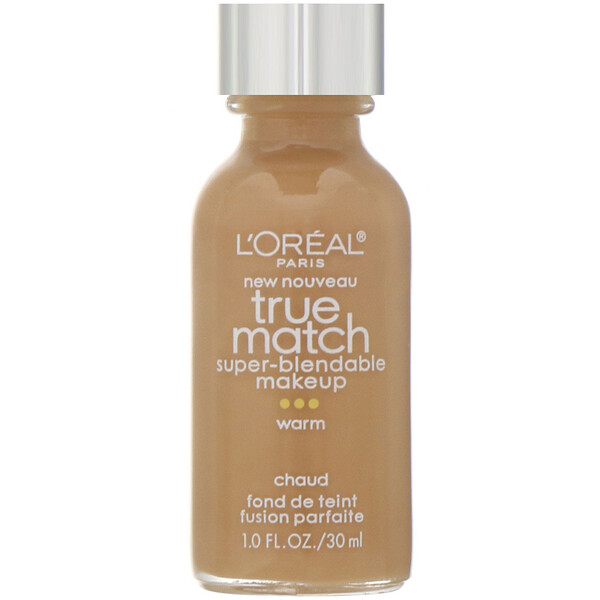 True Match Super-Blendable Makeup, W8 Cream Café, 1 fl oz (30 ml)
