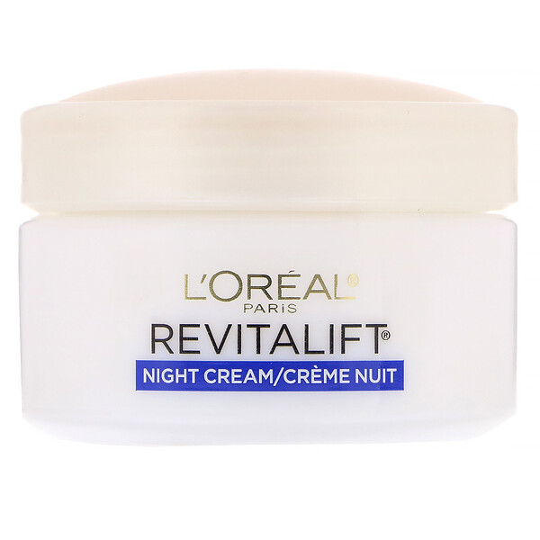 L'Oreal, קרם לחות ללילה, Revitalift נגד קמטים + ממצק, 48 גרם (1.7 אונקיות)