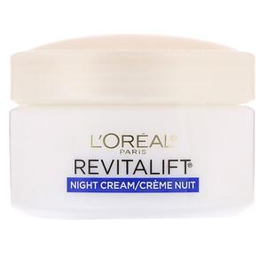 L'Oreal, Revitalift Anti-Wrinkle + Firming, Night Moisturizer, 1.7 oz (48 g) отзывы