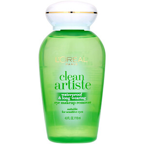 L'Oreal, Clean Artiste, Waterproof & Long Wearing Eye Makeup Remover, For Sensitive Eyes, 4 fl oz (118 ml) отзывы