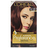 L'Oreal, Superior Preference, Fade-Defying Color + Shine System,  Warm, 4M Dark Mahogany Brown, 1 Application