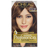 L'Oreal, Superior Preference, Fade-Defying Color + Shine System, Warmer, 5CB Medium Chestnut Brown, 1 Application
